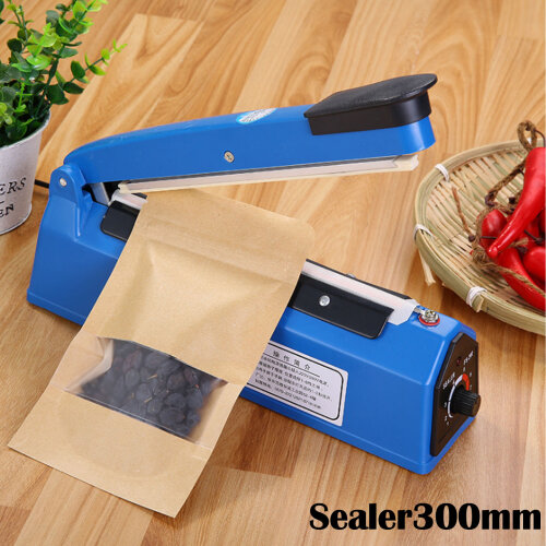 Impulse Heat Sealer Plastic Bag Film Sealing Machine Metal ABS 300mm