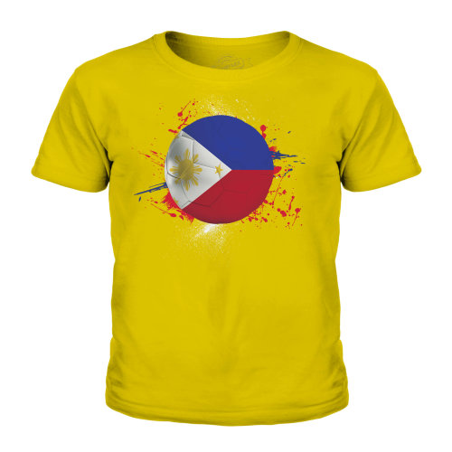 (Gold, 5-6 Years) Candymix - Philippines Football - Unisex Kid's T-Shirt