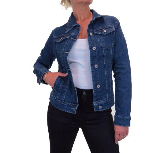 Women's Stretch Denim Jacket Ladies Western Style Long Sleeves Jeans Jackets 10-20
