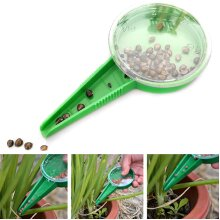 Mini Garden Plant Seed Dispenser Sower Planter Seed Dial Settings Spreaders Tool