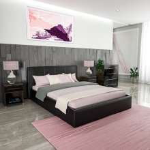 Lisbon Ottoman Bed Frame Faux Leather Bedroom