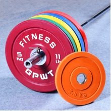 """2"""" Olympic Rubber Coated Bumper Plates Discs"""