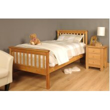 Talsi Wooden Bed Frame with Tanya Mattress