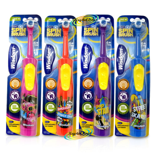 Kids Electric Toothbrush with Spin Brush Whitening+Vibrating AAA+Battery 6+Years(Random Color)
