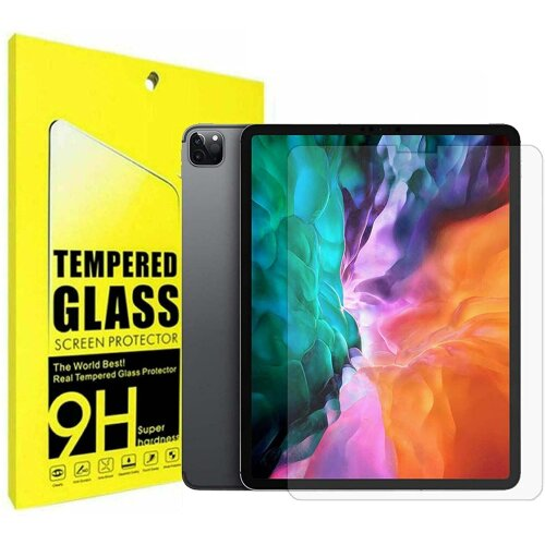9H Hard Ultra Clear Anti Fingerprint Anti Shatter Scratch Resistant HD Tempered Glass Screen Protector for Apple iPad Pro 12.9 inch (2021/2020/2018)