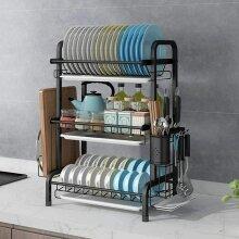Stainless Steel Sink Dish Storage Drain Rack