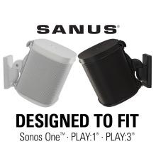 Sanus Speaker Swivel & Tilt Wall Mount for Sonos ONE Play:1 Play:3