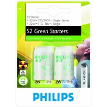 Philips S2 4-22W Starter - Lighting Accessories (Lighting Starter, White, Plastic, Fluorescent Lamps with electromagnetic Gear, 4 W, 22 W)
