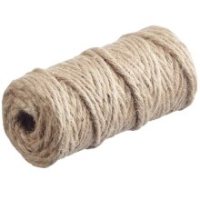 35m Natural Brown 6 Ply Jute Thread for Macrame or Dreamcatcher Crafts