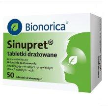 Sinupret, 50 tabletek drażowanych, sugar-coated tablets