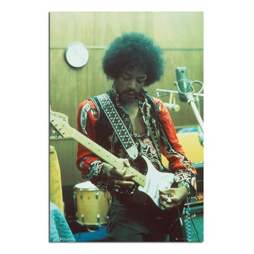 Jimi Hendrix In The Studio Poster