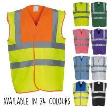 Yoko Hi Vis Viz Visibility Safety Workwear 2 Band & Braces Waistcoat Vest Jacket