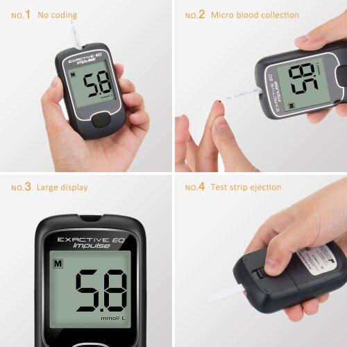 Diabetes Testing Glucose Blood Monitor w/50  Sugar Tester Blood