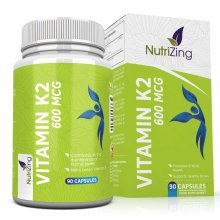 High Strength 600mcg Vitamin K2 - All trans from Natto - 100% Vegan