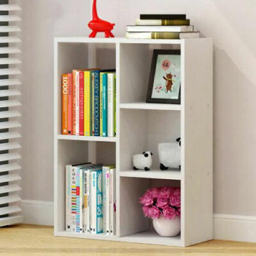 Shelving Book Shelf Unit 5 Cube Storage Bookcase