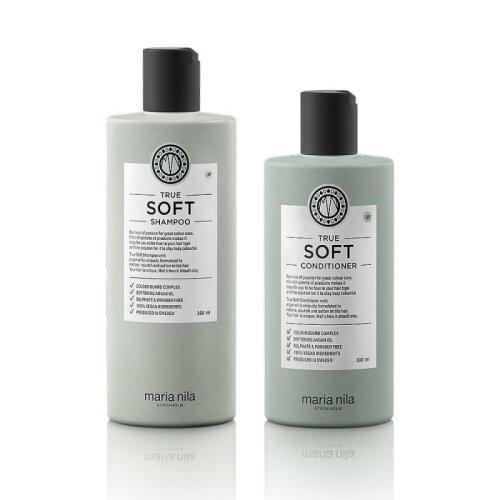 (300ml/350ml) Maria Nila True Soft Shampoo Conditioner Set