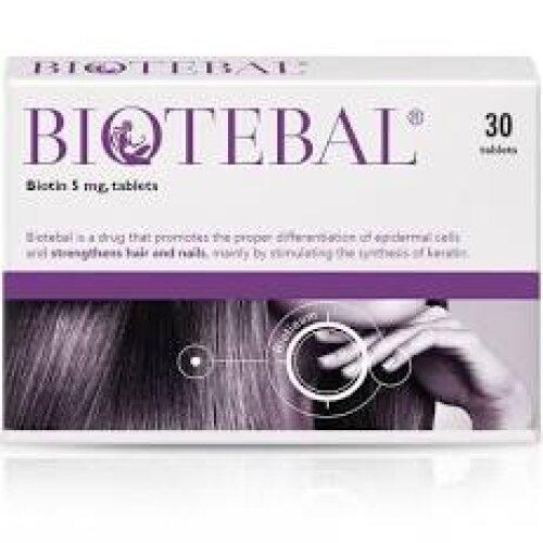 BIOTEBAL 5MG 30 TABLETS / BIOTIN