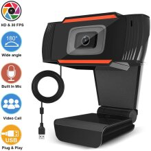 1080P HD Webcam High Definition Plug & Play Web Camera Built-in Mic