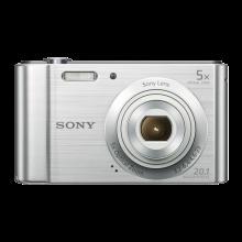Sony Cyber-shot DSC-W800 20.1MP Digital Camera - Silver /Case /16GB Memory Card