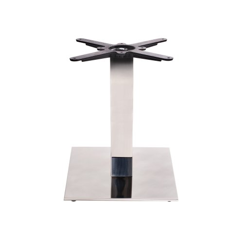 Chrome Square Table Base - Small - Coffee height - 450 mm