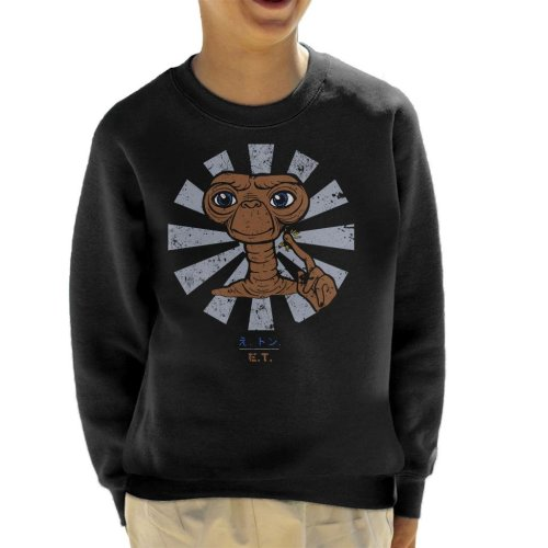 ET Extra Terrestrial Retro Japanese Kid's Sweatshirt