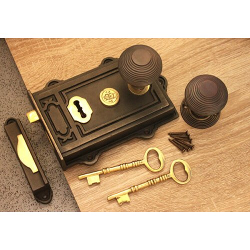 RIM KNOBS old vintage retro style rim door knobs for rim locks antique iron