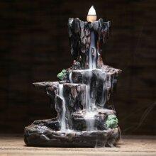 Ceramic Mountain Waterfall Backflow Smoke Handcraft Incense Burner Cen