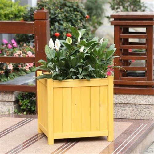 Winsome House WHPL225 Hemlock Square Planter, Large