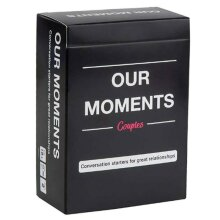 Our Moments Card Couples Funny Game Conversation Starters for Great Relationship
