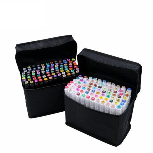 80 Colors Brush Twin Tip Markers Art Pen Set