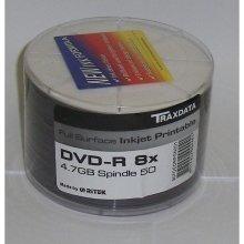 Traxdata Full Face Printable DVD-R 4.7gb 8x