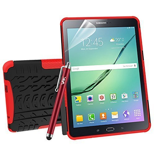 """(Red) For Galaxy Tab S2 9.7"""" Armour ShockProof Case"""