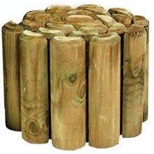 Abaseen 1.8M Fixed Log Panel Wooden Flexible Edging Border-(Pack of 2)