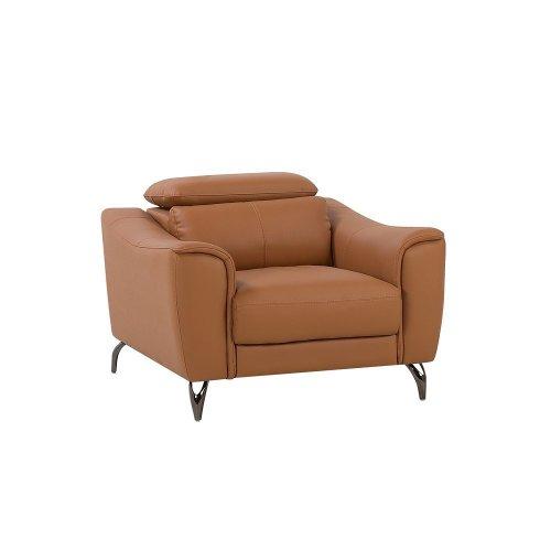 Leather Armchair Golden Brown NARWIK