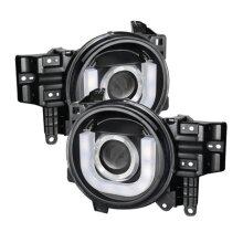 Spyder 5075314 3D DRL LED Projector Halogen Model for 2007-2014 Toyota FJ Cruiser - Black