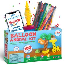 100pc Balloon Animal Starter Kit | Balloon Modelling Kit For Beginners