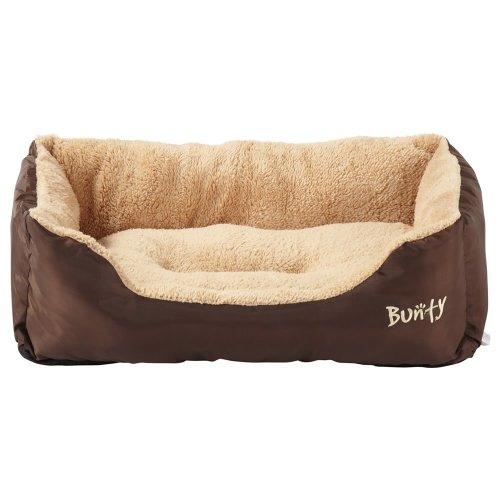 (Brown, X-Large) Bunty Deluxe Dog Bed   Soft Fleece Pet Bed