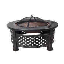 HEATSURE Outdoor Multifunctional Fire Pit Garden BBQ Brazier Round Patio Heater