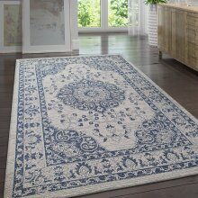 Cotton Rug Washable Grey Navy Blue Oriental Pattern Rug Runner Large Small Flat Weave Carpet Mat