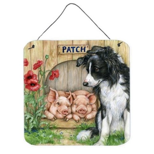 Patch the Border Collie & Piglet Friends Wall or Door Hanging Prints