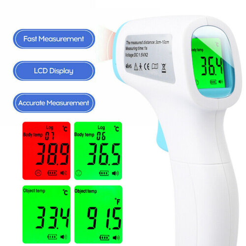 Adult Kids No-Contact LCD Infrared Digital Thermometer Body Head Forehead Gun