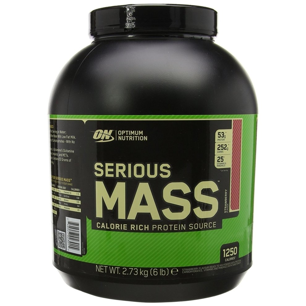 (Strawberry, 2.73kg) Optimum Nutrition Serious Mass