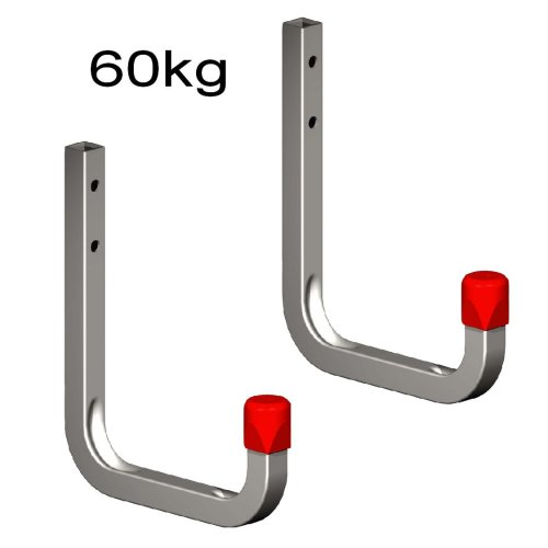 2 x 115mm Storage Wall Hooks 60kg Galvanised Steel, Garages, Sheds Ladders & Tools