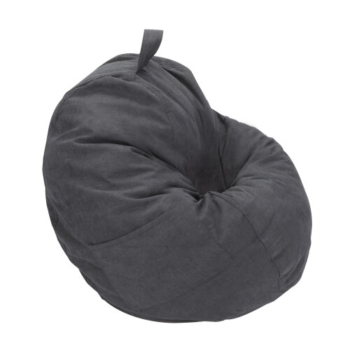 (Dark gray) Adults Kids Large Bean Bag Sofa Cover Indoor Lazy Lounger