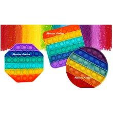 RAINBOW Push Pop for it Bubble Fidget Toy Sensory Stress Relief TIKTOK