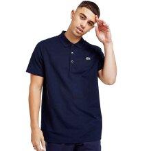 Lacoste Cotton Blend Ottoman Polo Shirt Navy Blue