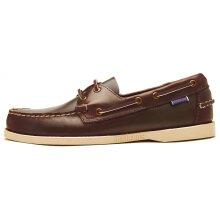 Sebago Docksides Portland Waxed Leather Boat Deck Shoes in Brown 70000G0 900 [UK 9 / EU 43.5 / US 9.5]
