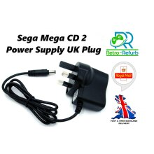Sega Mega CD II (2) AC Adapter Power Supply Cord