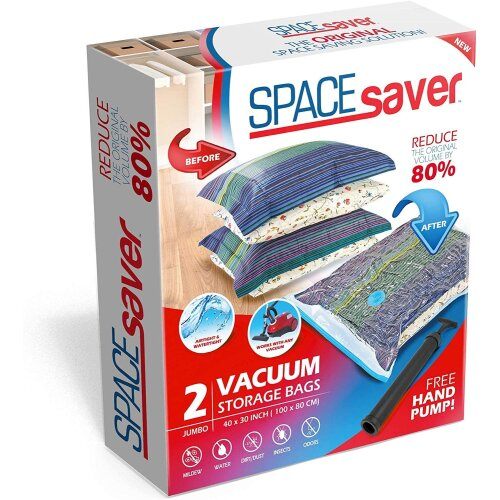 Spacesaver Premium Max Space Saving Vacuum Storage Bags Jumbo 2 Pack