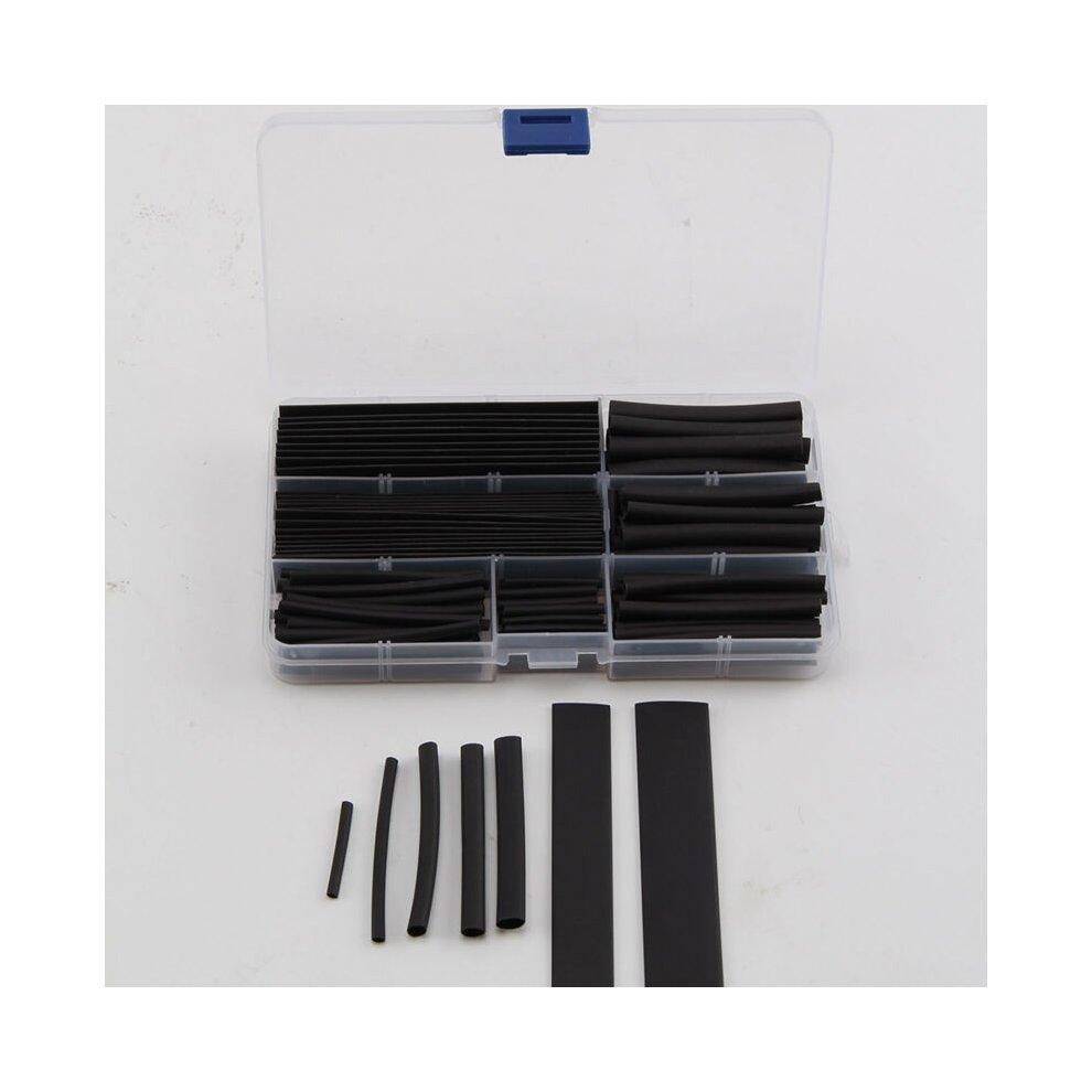 160 Pcs Black Heat Shrink Tubing Tube Cable Sleeving Wire Wrap Shrinkage